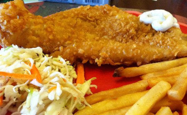 Battered Haddock Lunch